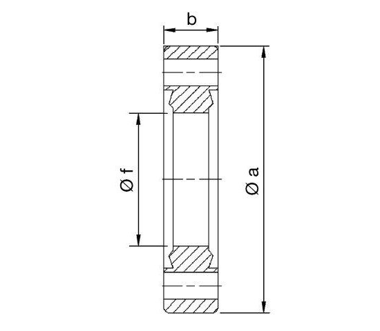Bild 2 - CF-double-sided passage flange DN 63 Øa=113,5 / b=17,5 / Øf=66