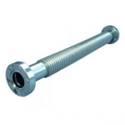 CF-metal tube 1 flange turnable 316L flexible