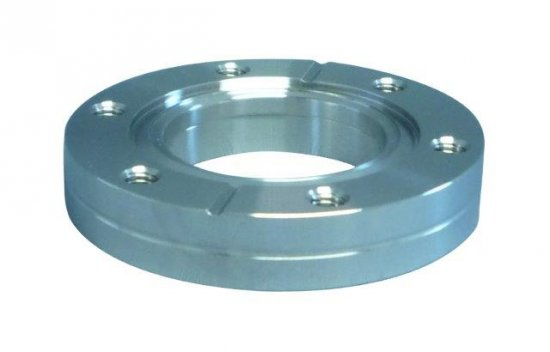 Bild 1 - CF-welding flange 316L fixed with threaded holes DN 16 Øa=34 / Øb=7,6 / Ød=18 / Øf=16,5 / e=4,8