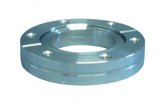 Bild 1 - CF-welding flange 304L turnable with threaded holes DN 100 Øa=152 / Øb=19,9 / Ød=104,3 / Øf=100,5 / e=9,5
