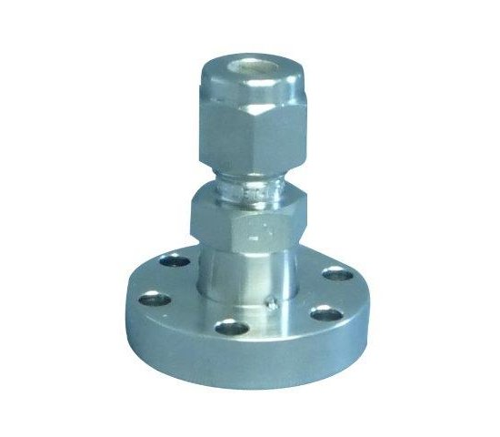 Bild 1 - CF-Adapter 304L f. double compression tube fitting (Swagelok®-Adapter 304L compatible) DN 16 ØA=10mm / B=42mm