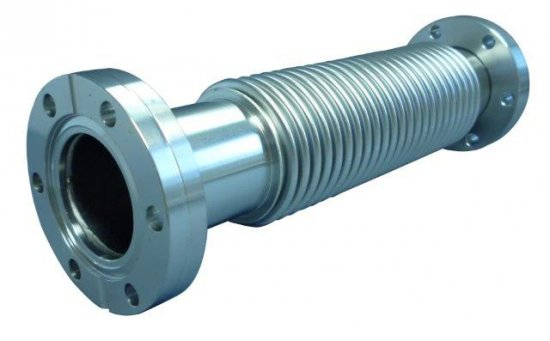 Bild 1 - CF-metal bellows, 1 flange turnable 316L/316Ti, DN 63 di=65,5 / da=90 / l=220 / x=14 / h=75