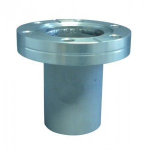 CF-flange 316L with socket fixed DN 100 l=135 / Ød=104 / s=2.0
